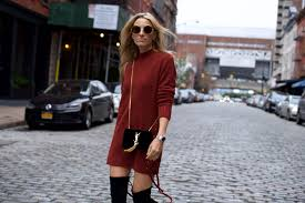 lace up sweater dress over the knee boots mind body swagmind