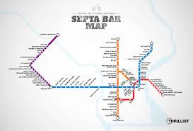 Philadelphia Subway Map Septa Bar Map Philadelphia