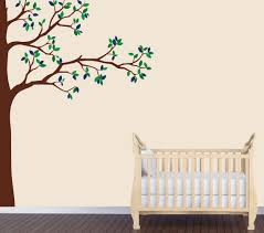 nursery tree wall art shenra com amazon com babys nature wall decal blue tree wall art babys