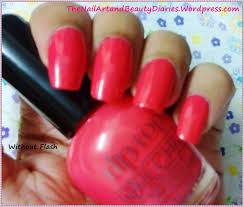 tip top creamy orange nail polish review the nail art and beauty