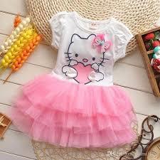 2017 2017 cute baby girls kitty dress kids summer short