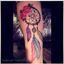 dreamcatcher sleeve tattoos colourful dream catcher tattoo i want something like this but on