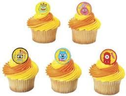buy yo gabba gabba characters cupcake rings 12 pack cheap price