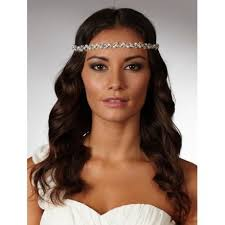 forehead headband bridal halo wedding browbands lace and favour