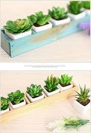 Rectangular Succulent Planter by Yumu Rectangle Wooden Succulent Plant Fleshy Flower Bed Pot Box