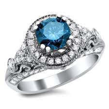 blue diamond wedding rings blue diamond rings engage14 net