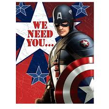 captain america the first avenger 8 pack party invitations