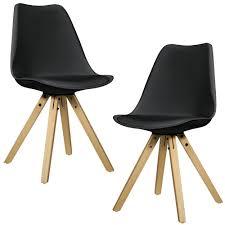 Esszimmerstuhl Retro Leder En Casa 2x Design Stühle Esszimmer Stuhl Holz Kunststoff Kunst
