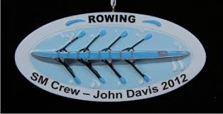 rowing ornament