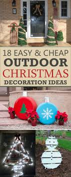 cheap christmas 18 easy and cheap diy outdoor christmas decoration ideas