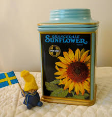 sunflower canisters for kitchen oneida vintage labels orangedale sunflower kitchen canister with