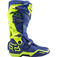 fly maverik motocross boots fox racing 2015 limited edition instinct boots blue yellow wide