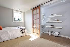 Sliding Doors For Bedroom Contemporary Guest Bedroom With Barn Door U0026 Floor To Ceiling