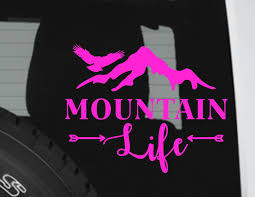 mountain jeep decals mountain life car decal mountains window decal outdoor life