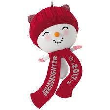 snowman granddaughter ornament keepsake ornaments hallmark