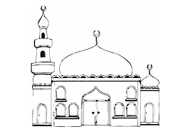 mosque coloring coloring