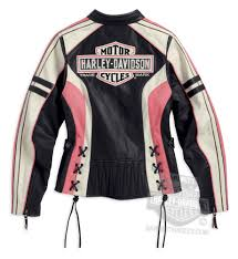 pink leather motorcycle jacket harley davidson womens ridgeway trademark b u0026s two way zipper