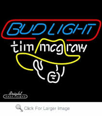 bud light lighted sign neon budlight tim mcgraw beer sign only 299 99 signs b