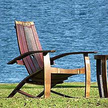 Whiskey Barrel Chairs Whiskey Barrel Adirondack Chair Closed Top Wine Enthusiast