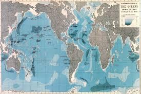 Ocean Maps World Ocean Depths Map Wallpaper Mural Murals Wallpaper