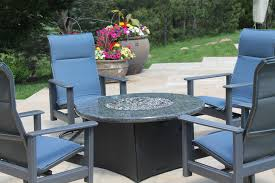 Patio Furniture With Gas Fire Pit by Oriflamme Gas Fire Pit Table Blue Pearl Granite