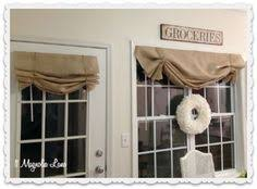 Inexpensive Window Valances Country Cottage Window Treatment Made With Tea Stained