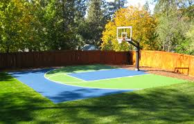 Basketball Court In The Backyard There U0027s Pro Dunk Platinum Basketball System In The Background And