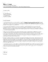 letter for english teacher application