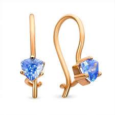 earrings for babies buy 14k gold baby earrings blue kids jewelry boutique