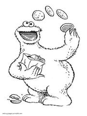 sesame street coloring book favors ernie