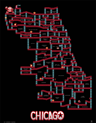 Chicago Homicide Map by Beware The Barrels A Donkey Kong Map Of Chicago Chicago