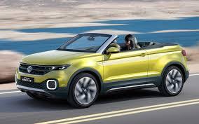 yellow volkswagen convertible volkswagen t cross breeze concept is a compact convertible