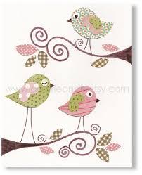 Bird Decor For Nursery Nursery Prints Baby Nursery Baby Room Nursery Decor