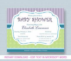 free baby shower invitation templates microsoft word free baby