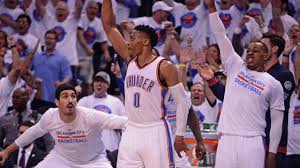 thunder roll in game 4 push warriors to brink of elimination