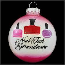 nail tech extraordinaire glass ornament occupations