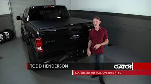 Ford F350 Truck Bed Covers - gator sr1 roll up tonneau cover video reviews free shipping