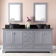 double bowl sink vanity 72 quen double vessel sink vanity gray bathroom