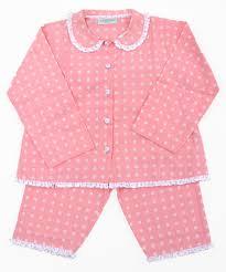 personalised monogram childrens pyjamas turquaz pink spotty cotton