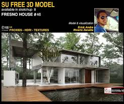 sketchup texture awesome free sketchup 3d model fresno house 46