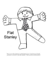 flat stanley coloring page