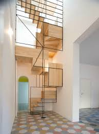 Stairs Designs For Home Contemporary Metal Staircase Wooden Floating Steps Glass Railing