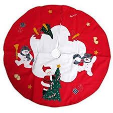 amazon com santa and frosty friends christmas tree skirt 36