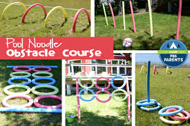 Backyard Games For Toddlers by Pool Noodle Obstacle Course Crafts For Kids Pbs Parents