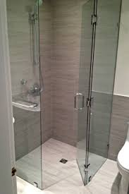 Bathroom With Corner Shower Curbless Frameless Corner Shower Neo Angle Frameless Showers