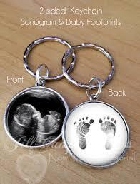 keepsake keychains sonogram keychain baby footprints key ring sonogram gift baby