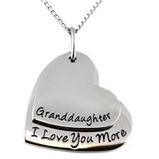 granddaughter jewelry granddaughter i you more heart shaped pendant