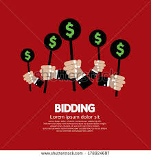 bid auction auction bidding stock images royalty free images vectors