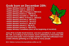 a list of gods born on december 25th hint jesus not included