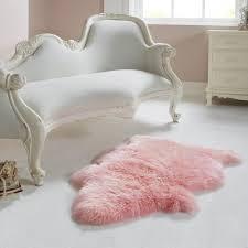 single light pink sheepskin rug co uk kitchen home